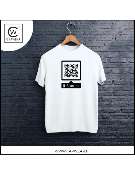 Maglietta interattiva con QR code CapWear